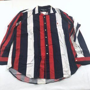 Ralph Lauren Tilden Striped Tricolor Shirt Sz L
